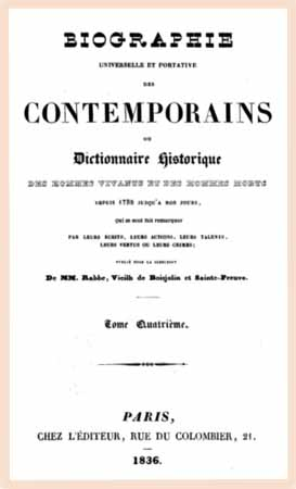 1836 biographie contemporains